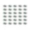 LOT DE 30 SPOT LED ENCASTRABLE COMPLETE ORIENTABLE BLANC AVEC AMPOULE GU10 230V eq. 50W, LUMIERE BLANC NEUTRE