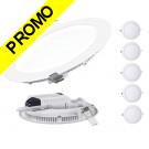 Lot de 5 Spot Encastrable LED Downlight Panel Extra-Plat 18W Blanc Neutre 4200-4500K
