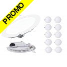 Lot de 10 Spot Encastrable LED Downlight Panel Extra-Plat 18W Blanc Froid 6000K