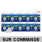 Lot de 10 Ampoules GU10 7W eq. 45W 3000K Blanc Chaud Marque V-TAC