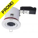 Support de spot BBC Orientable Blanc diametre 90mm avec douille GU10 automatique ref. 826