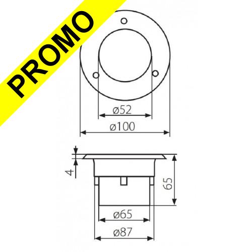 spot ronde inox led smd blanc froid 6200 6600k etanche ip66 gordo. Black Bedroom Furniture Sets. Home Design Ideas