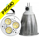 Ampoule LED Edison® 3*1W MR16 (GU5.3) Blanc « Dimmable » 12V