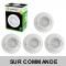 Lot de 5 Spot Led Encastrable Complete Blanc Orientable lumière Blanc Neutre eq. 50W ref.888