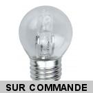 Ampoule halogene sphérique 54W (42W) culot à vis E27, 220-240V