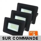 Lot de 3 LED Projecteur Lampe avec Epistar Leds 20W Noir 6000K IP65 Extra Plat
