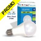 Ampoule LED V-TAC Culot E27 10W (éq. 60W) 806lm angle 200° lumière blanc chaud 2700K