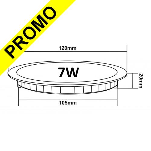 398a7a72aa2d1 Lot de 10 Spot Encastrable LED Downlight Panel Extra-Plat 7W Blanc Neutre  4200-4500K