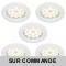 LOT DE 5 SPOT LED ENCASTRABLE COMPLETE RONDE FIXE eq. 50W BLANC NEUTRE