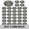 LOT DE 40 SPOT LED FIXE COMPLETE ALU BROSSE AVEC COB LED 5W BLANC NEUTRE