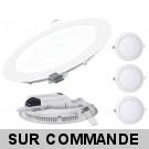 Lot de 3 Spot Encastrable LED Downlight Panel Extra-Plat 18W Blanc Froid 6000K