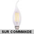 Ampoule Led Flamme Coup de Vent Filament 4 watt (équivalent 42 Watt) Culot E14 à visser blanc chaud