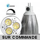 Ampoule LED Edison® 3*1W MR16 (GU5.3)  Blanc « Dimmable » 12V