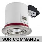 Support de spot BBC Orientable Alu Brossé diametre 100mm avec douille GU10 automatique ref. 819