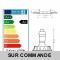 LOT DE 8 SPOT ENCASTRABLE FIXE LED 230V BLANC AVEC AMPOULE GU10 38° 5W eq.ENV 50W