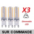 Lot de 3 Ampoules led G9 3.6 watt (eq. 35watt) Compatible Variateurs