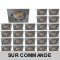 LOT DE 25 SPOT LED CARRE 230V ALU BROSSE 38° LED 5W RENDU 50W BLANC CHAUD