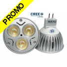 Ampoule LED Cree® 3x2W MR16 (GU5.3) Blanc Chaud 12V
