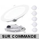 Lot de 5 Spot Encastrable LED Downlight Panel Extra-Plat 3W Blanc Neutre 4200-4500K
