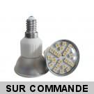 Ampoule à 24 leds SMD Blanc Chaud Culot E14