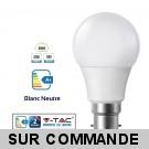 Ampoule LED V-TAC Culot B22 10W (éq. 60W) 806lm angle 200° lumière blanc neutre 4500K