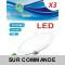Lot de 3 Spot Encastrable LED Downlight Panel Extra-Plat 7W Blanc Neutre 4200-4500K
