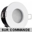 FIXATION SPOT SALLE DE BAIN ETANCHE BLANC POUR AMPOULE GU5.3 12V HALOGENE OU LED IP65