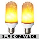 Pack de 2 Ampoules LED flamme effet feu scintillement culot E27 ref 946