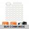 LOT DE 50 SPOT LED ENCASTRABLE COMPLETE RONDE FIXE eq. 50W LUMIERE BLANC NEUTRE