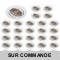 LOT DE 30 SPOT LED RONDE BLANC 230V COB LED 5W RENDU 50W BLANC CHAUD