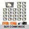 LOT DE 25 SPOT ENCASTRABLE ORIENTABLE LED CARRE ALU BROSSE GU10 230V eq. 50W BLANC NEUTRE