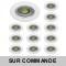 LOT DE 15 SPOT ENCASTRABLE FIXE LED GU10 230V BLANC AVEC COB LED 5W