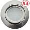 Lot de 3 Spot Led Encastrable Complete Satin Orientable lumière Blanc Neutre eq. 50W ref.895