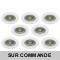 LOT DE 8 SPOT ENCASTRABLE FIXE LED GU10 230V BLANC AVEC COB LED 5W