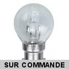 Ampoule halogene sphérique 54W (42W) culot à baïonnette B22, 220-240V