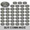 LOT DE 50 SPOT LED FIXE COMPLETE ALU BROSSE 38° 5W eq. ENV 50W BLANC NEUTRE