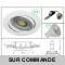 LOT DE 8 SPOT LED RONDE BLANC 230V COB LED 5W RENDU 50W BLANC NEUTRE