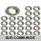 LOT DE 25 SPOT LED ENCASTRABLE COMPLETE ORIENTABLE ALU BROSSE AVEC AMPOULE GU10 230V eq. 50W, BLANC CHAUD 3000K