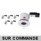 Lot de 5 Support de spot BBC Orientable diametre 100mm avec douille GU10 automatique ref. 802