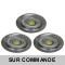 LOT DE 3 SPOT LED FIXE COMPLETE ALU BROSSE 38° 5W eq. ENV 50W BLANC NEUTRE