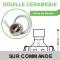 Spot Led Encastrable Ronde Orientable Alu brossé 5W COB Led Rendu 50W
