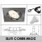 LOT DE 10 SPOT ENCASTRABLE ORIENTABLE LED CARRE ALU BROSSE GU10 230V eq. 50W BLANC CHAUD