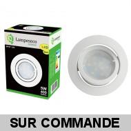 Lot de 2 Spot Led Encastrable Complete Blanc Orientable lumière Blanc Chaud eq. 50W ref.193