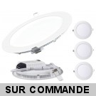 Lot de 3 Spot Encastrable LED Downlight Panel Extra-Plat 18W Blanc Neutre 4200-4500K