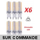 Lot de 6 Ampoules led G9 3.6 watt (eq. 35watt) Compatible Variateurs