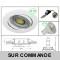 LOT DE 12 SPOT LED RONDE BLANC 230V COB LED 5W RENDU 50W BLANC NEUTRE