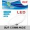 Lot de 10 Spot Encastrable LED Downlight Panel Extra-Plat 12W Blanc Neutre 4200-4500K