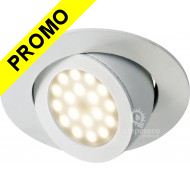 Spot Led Encastrable Escargot Rond Orientable Blanc Rendu 50W