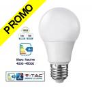 Ampoule LED V-TAC Culot E27 12W (éq.75W) 1055lm angle 200° lumière blanc neutre