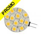 Ampoule G4 à 12 Leds SMD 5050 2.4 Watts, Blanc Chaud 12V